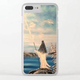 Atlantean Priestess Clear iPhone Case
