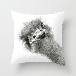 Cute Ostrich Expression SK055 Throw Pillow