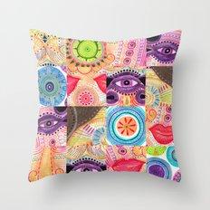 vibrant playful rhythm Throw Pillow