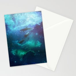 Mystic dolphins Stationery Cards