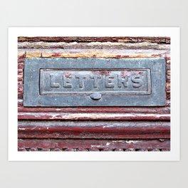 Letter Slot Art Print