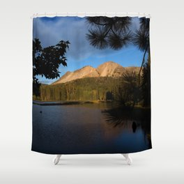 Manzanita Lake Lassen Volcanic National Park Landscape Shower Curtain