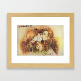 These Kissy Things Framed Art Print