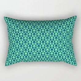 Checkered Skulls Pattern III Rectangular Pillow