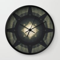 hamlet Wall Clocks featuring Oberon - Hamlet Crater by Fabled Creative