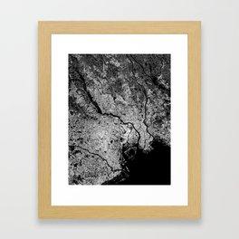 Tokyo map Framed Art Print