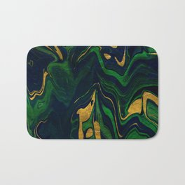 Rhapsody in Blue and Green and Gold Bath Mat