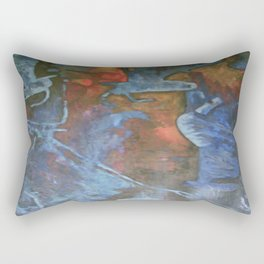 The Fall, acrylic on canvess. Rectangular Pillow