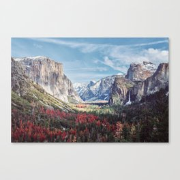 Tunnel View Yosemite Valley Canvas Print