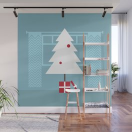 Blue Christmas Wall Mural