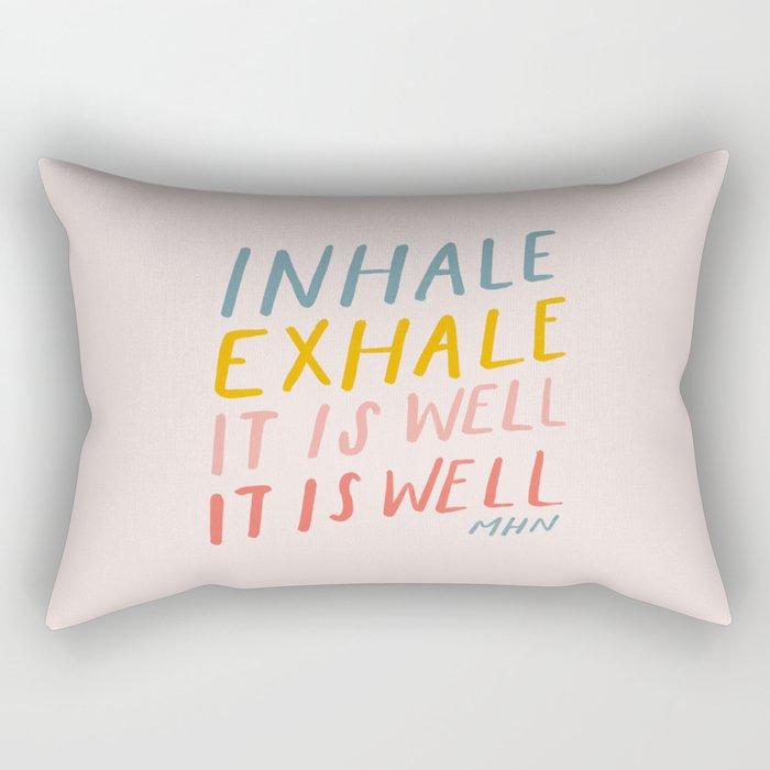It Is Well Rectangular Pillow