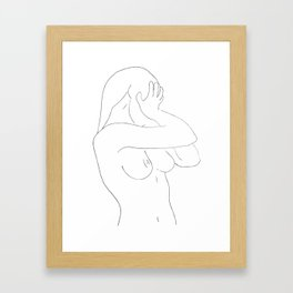 Minimal line drawing Framed Art Print