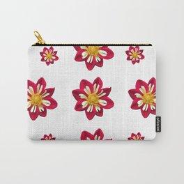 Dahlia Pinwheels Carry-All Pouch