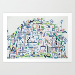philip johnson's children, i Art Print