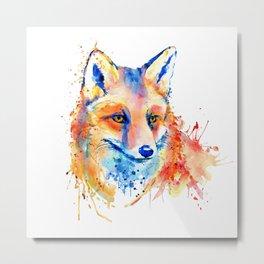 Cute Fox Head Metal Print