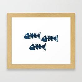 Fish Skeleton Framed Art Print