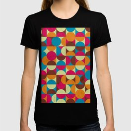 Energy Deco Retro Pattern Bubblegum T-shirt