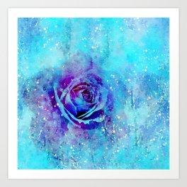 Mixed Media Rose Art Print