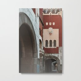 Color and details on a building in Subotica, Serbia // fall // autumn Metal Print