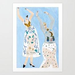ChristianDior Dancers Art Print
