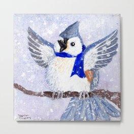 Winter Birds - Titmouse Metal Print