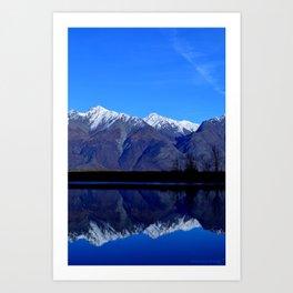 Knik River Mts Art Print