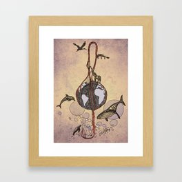 Earth melody Framed Art Print