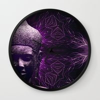 meditation Wall Clocks featuring Meditation by JG-DESIGN