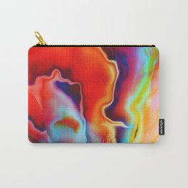 Fire and Ice Painted Fractal Carry-All Pouch