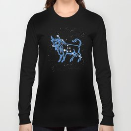 Taurus Constellation and Zodiac Sign with Stars Long Sleeve T-shirt