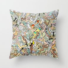 Martians Invasion Throw Pillow