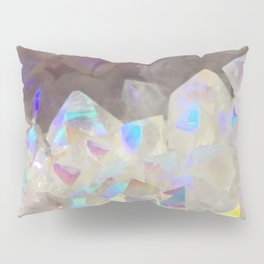 Iridescent Aura Crystals Pillow Sham