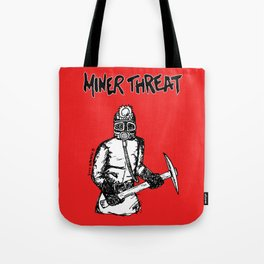 Miner Threat Tote Bag