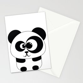 Cute Panda Illustration Stationery Cards