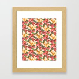 Mixed Paradise Tropicals in Vintage Framed Art Print