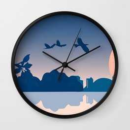 Dragon Boat Toronto Canada by Cindy Rose Studio Wall Clock