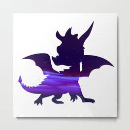Spyro Crystal Islands Skybox Metal Print