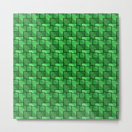 Emerald Bricks Metal Print