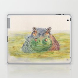 Ink Animals of Africa - Harriet Hippo Laptop & iPad Skin