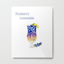 Blueberry Lemonade  Metal Print