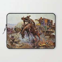 C.M. Russell Cook's Troubles Vintage Western Art Laptop Sleeve
