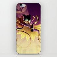 batgirl iPhone & iPod Skins featuring Batgirl by The Art of Eileen Marie