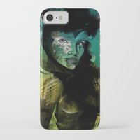 angel iPhone & iPod Cases featuring Angel by Irmak Akcadogan