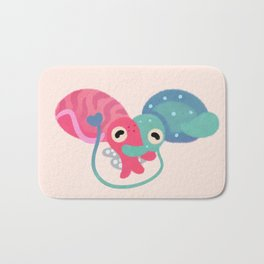 Water bloom / cuddlefish Bath Mat