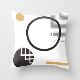 Abstract squares and circles Throw Pillow