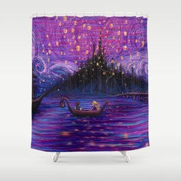 The Lantern Scene Shower Curtain