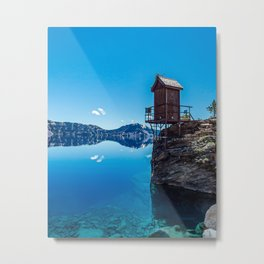 Wilderness Pooper // Crater Lake National Park Beauty of the Blue Skies and Waters Metal Print