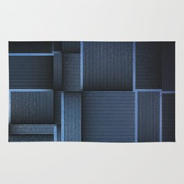 Rhythm of Rectangles and Blues Rug
