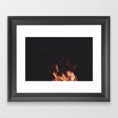 FIRE 5 Framed Art Print