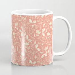 Delicate Leaves Peach Coffee Mug